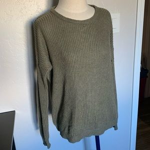 Brandy olive green sweater